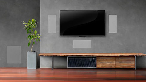 In-wall home cinema speakers