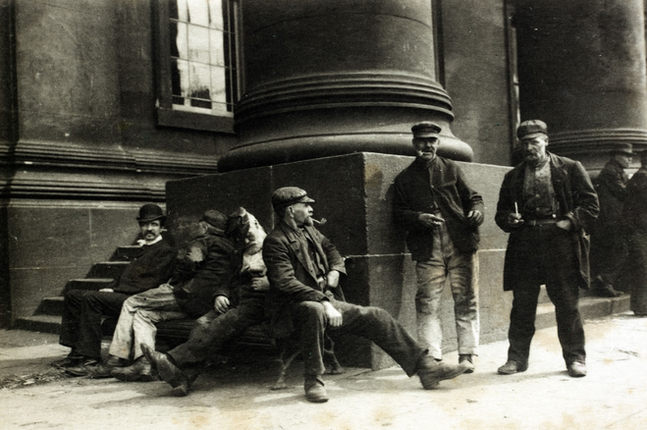 Steps of Old Liverpool Customs House, 1890