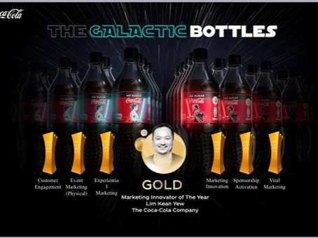 Coca Cola wins 6 Gold Awards and Marketing Innovator of the Year 2020 Award with Inuru technology.