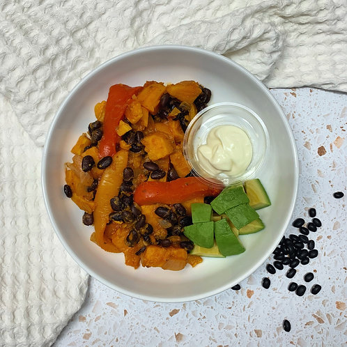 Jerk Sweet Potato and Black Bean Bowl