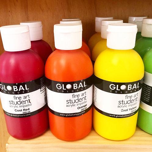 250ml Global Acrylic Paint