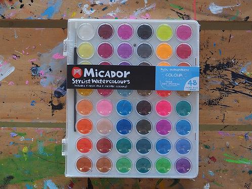 Micador Stylist Wastercolours 48 colours