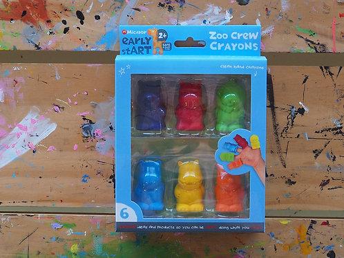 Micador Zoo Crew Crayons
