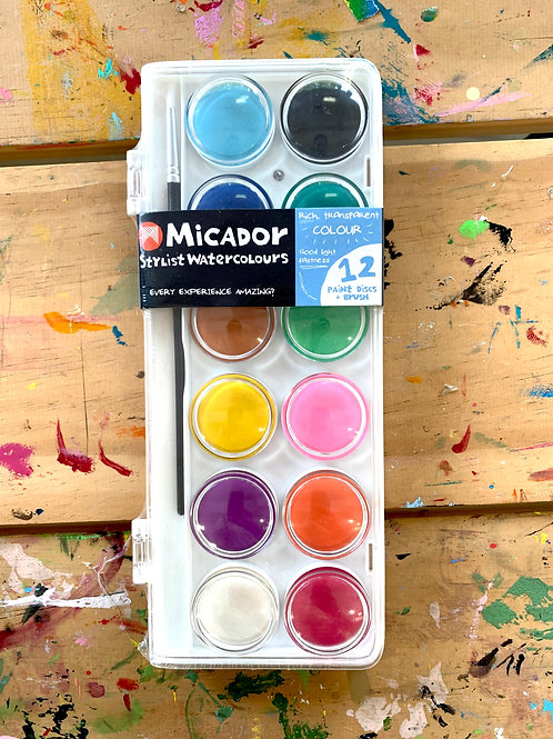 Micador Stylist Watercolours - 12
