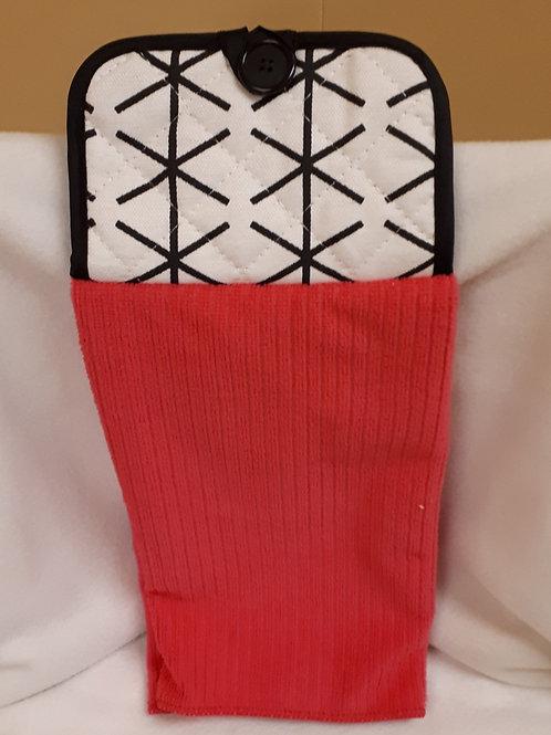 Kitchen Hand Towel-Red & Black