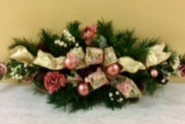 Christmas Decor- Pink-White Swag