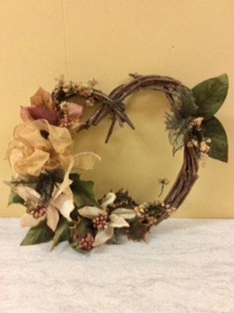 Christmas Decor-Heart Grapevine Wreath