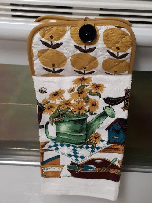 Kitchen-Green-Gold Hand Towel