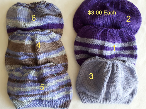 Knitted-Sparkly Pony Tail Beanie Hats