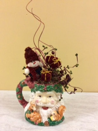 Christmas Decor-Santa in a jug