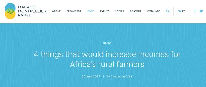 Blog: increasing incomes for rural farmers