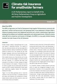 Climate risk insurance for smallholder farmers