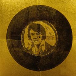Disque d'or (portrait d'Elvis Presley)