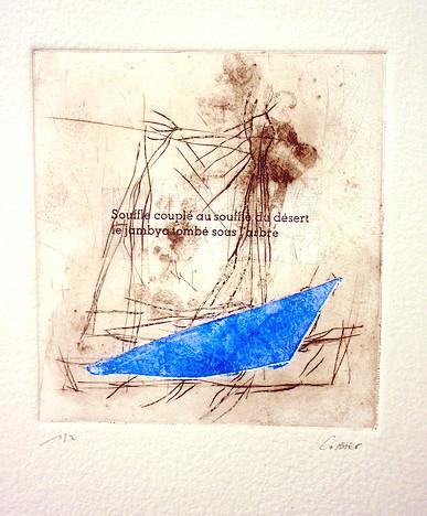 Gravures à la pointe sèche et carborundum  Format de la feuille : 26 x 32 cm  Format image : de 15 x15 cm à 15 x 20Papier chiffon du Moulin de Larroque  Année : 2015