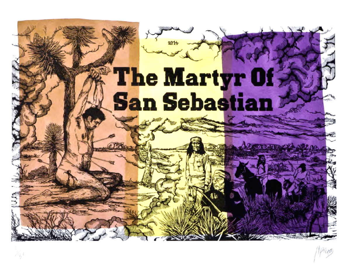 The martyr of San Sebastian