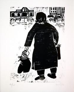 Elbio Mazet - Femme au panier