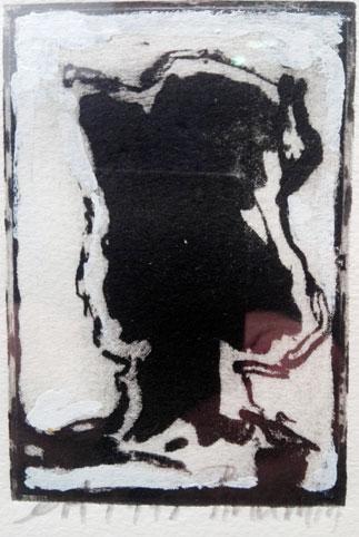 Eau-forte rehaussée Portrait. 12x19 cm