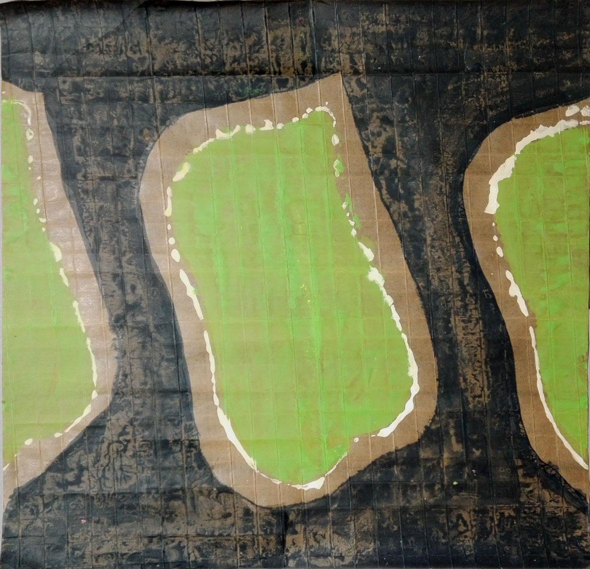 Monotype sur papier quadrillé 60x59 cm. 2008