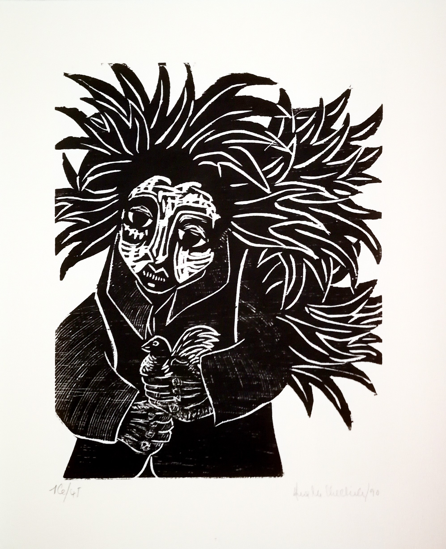 Ana Chechile - Femme à l'oiseau
