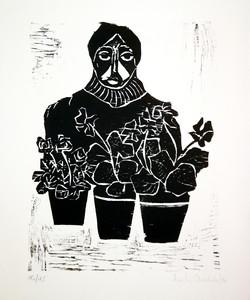 Ana Chechile - Femme aux fleurs