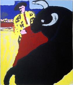 Sérigraphie Tauromachie. 55 x 46 cm. 2015