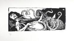 Le rêve de la femme du pêcheur (d'après Hokusai)