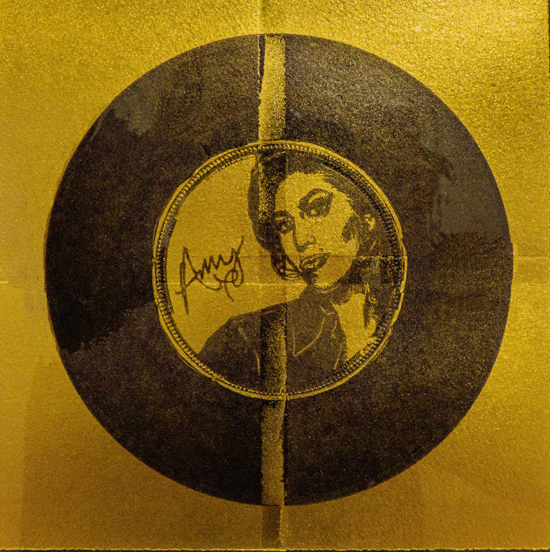 Disque d'or (portrait d'Amy Winehouse)