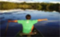 passeio de canoa no Malocas Lodge