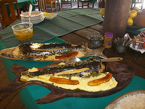 almoço no malocas
