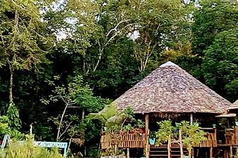 Malocas Lodge na cheia do rio
