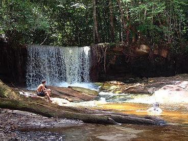 cascade à Malocas Lodge