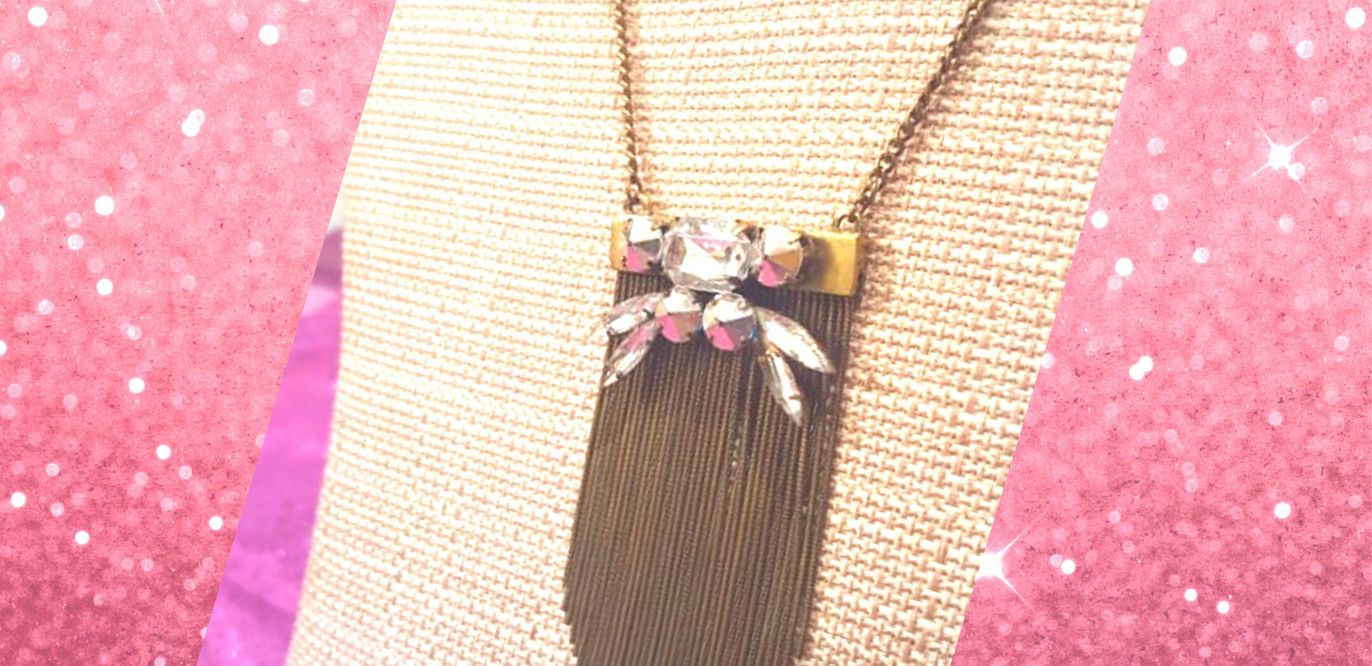 Brass Color Dangly Necklace