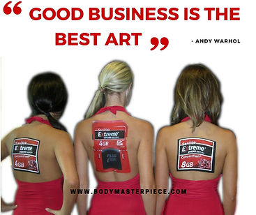 Business and Art quote by Andy Warhol
