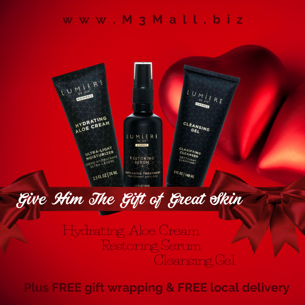 Valentine Men's Skin Care Bundle