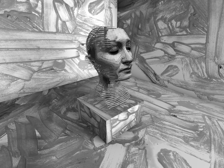 Stop Motion Painting a Kinetic CT Scan Sculpture in Virtual Reality for 'Coding Mind-Body Dualism'