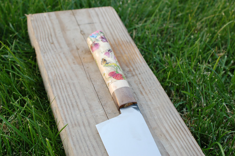 Chef Knife - Floral