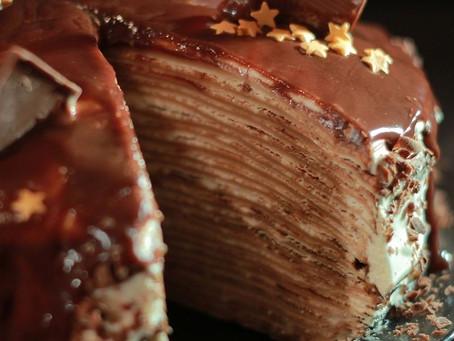 Блинный торт «Прага» с заварным кремом