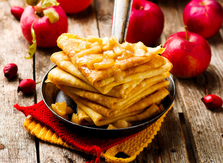 Блины с яблоками