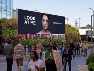 Domestic abuse billboards rely on the healing eye
