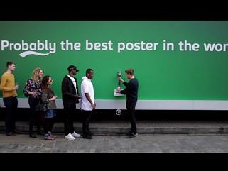 Carlsberg's beer tap billboard offers free beer