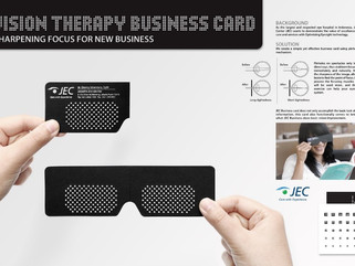 Jakarta Eye Centre: Insightful business card helps to improve vision