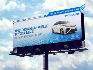 Air Cleaning Billboard: Toyota's ad for an Eco-car has an Eco-purpose