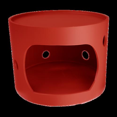 Cabane rouge avec toit, 40cm de diamètre