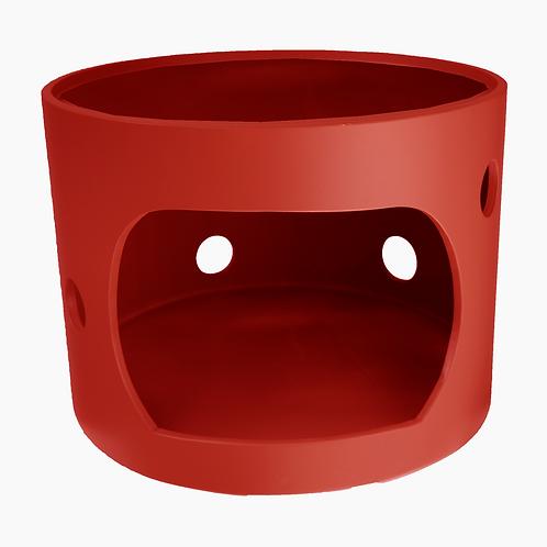 Cabane rouge sans toit, 40cm de diamètre