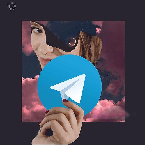 Авторский стикер для Телеграм