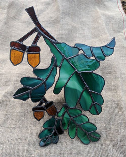 So much love for this leaves and acorn holiday gift order - it was completely custom from pattern to