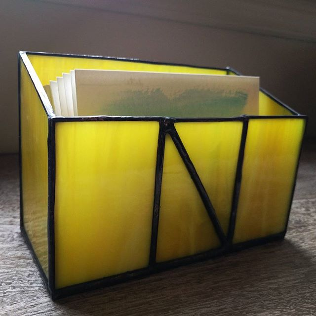 Experiment - first box project! Custom gift to hold watercolor stationery. What do you think, friend