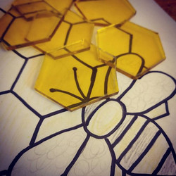 Enjoying some down time and working on a custom bee piece today!