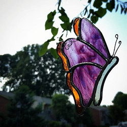 Letting this little butterfly see the sun before finishing it up! ☀️🦋 #custom #glasstasticstudio #s
