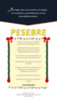 Pesebre, story telling, plaza pública, tarima